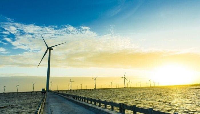 Cánh đồng điện gió buổi chiều (nguồn Internet)