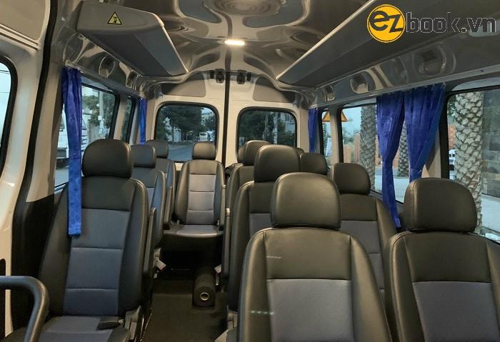 Nội thất dòng xe du lịch 16 chỗ ngồi
