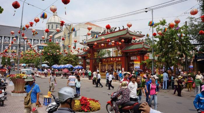Ngôi chùa mang đậm kiến trúc của người Hoa