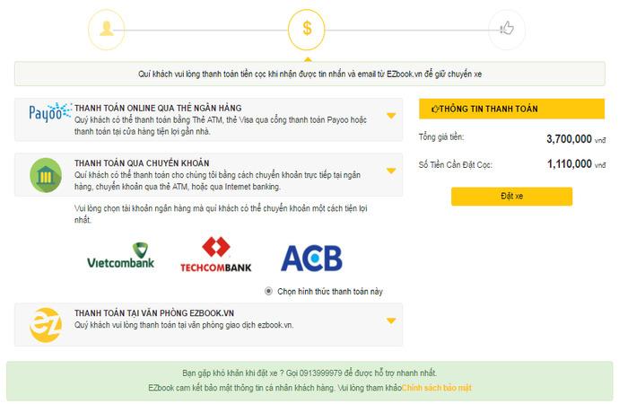 Các hình thức thanh toán tại Ezbook