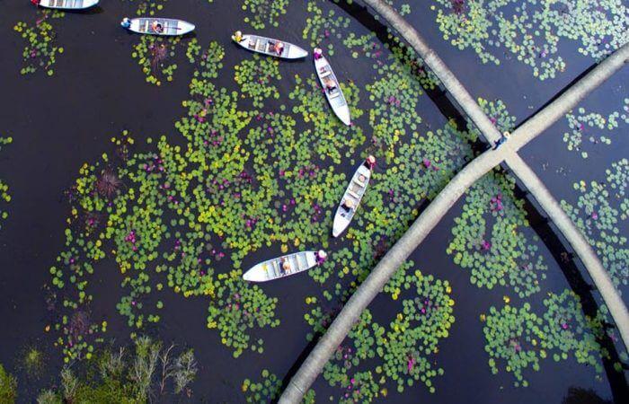 Làng nổitân lập mùa nước nổi (nguồn Internet)